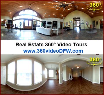 Real Estate 360° Video Tours. 360° Video Recording Service in the Dallas-Fort Worth Metroplex